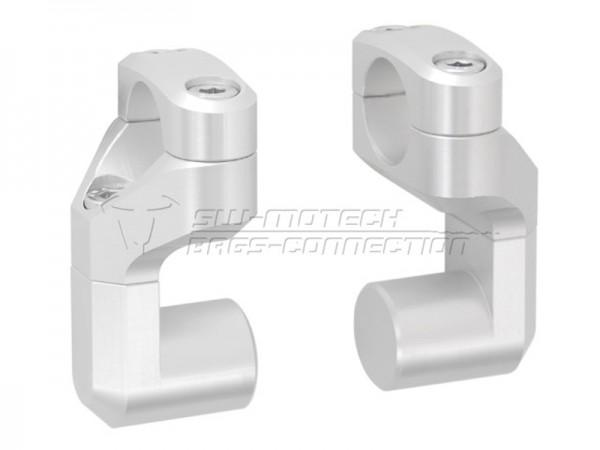 SW-Motech Lenkerverlegung Vario für 28mm Lenker silber - 2. Wahl aus Kundenretoure