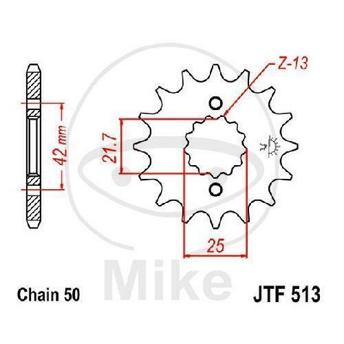 JT Sprockets Ritzel F513 Teilung 530
