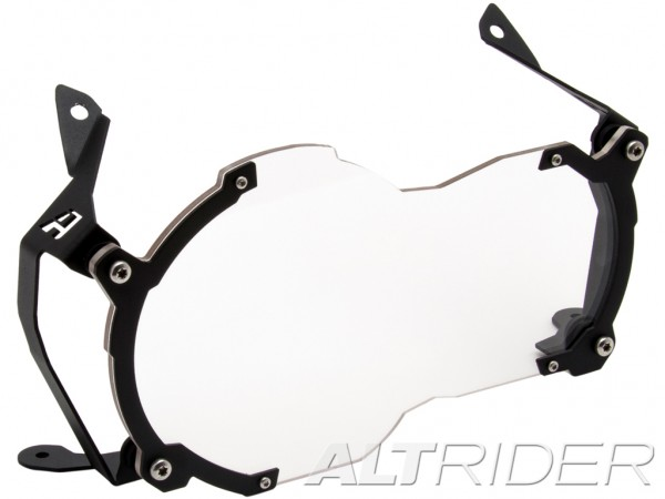 AltRider Clear Headlight Guard for the BMW R 1200 R 1250 GS+GSA Water Cooled - Black